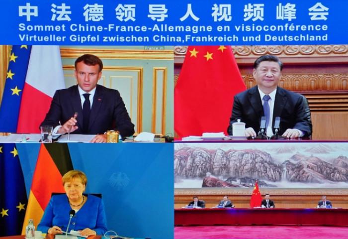 Хятад, Франц, Германы төрийн тэргүүнүүд онлайнаар уулзжээ